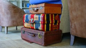 suitcases. having a system for packing makes the whole process easier.