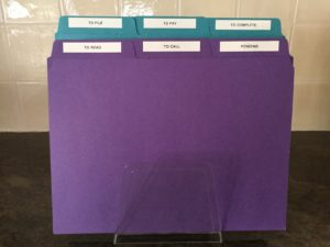 Action files for paperwork