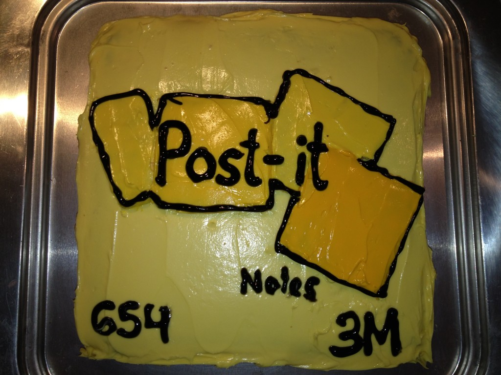 Post it notes cake