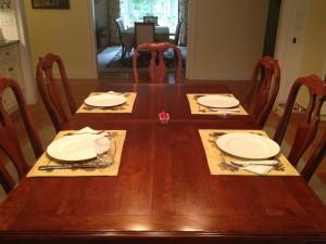 Dinner Table set for dinner
