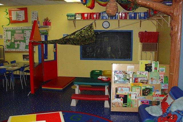 organized kindergarten room