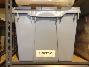 Holiday Bin Label
