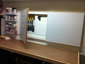 Pegboard for storage
