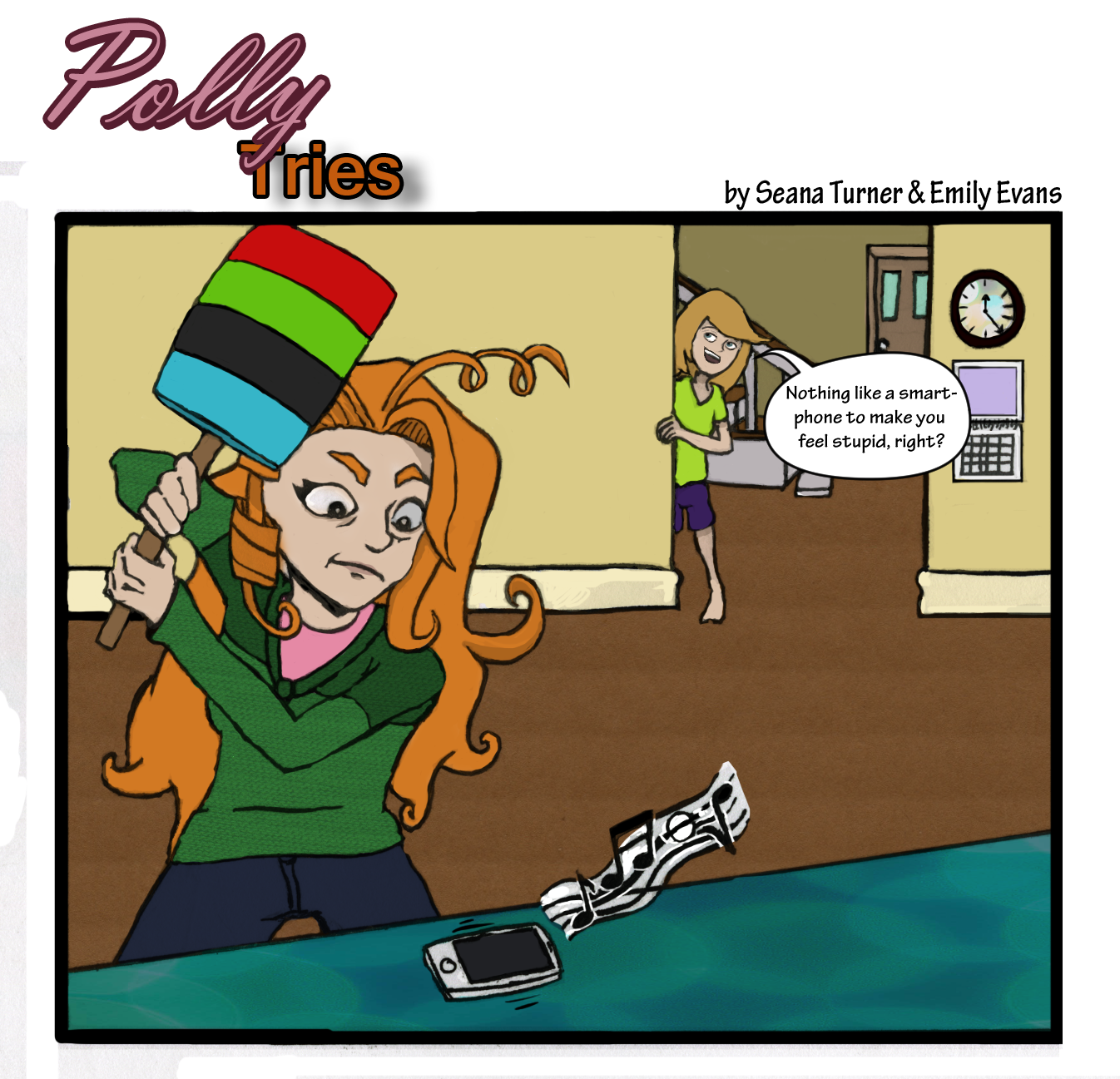 Polly Whacks her Cell Phone