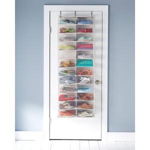 Over the door shoe storage