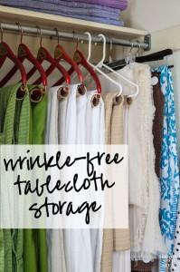Tablecloth Storage