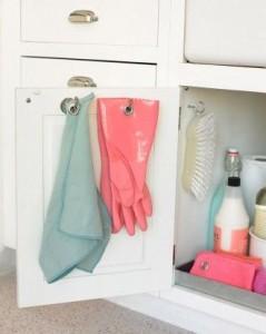 Hooks on kitchen door