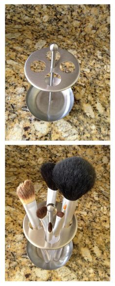Toothbrush holder for makeup