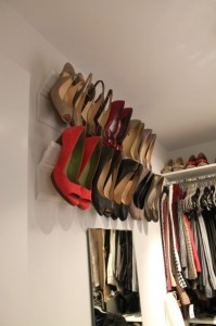 Hang shoes from the wall