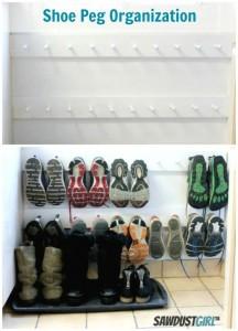 Shoe storage in the closet