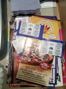 Take-out menus. Today we will tackle the stash of take-out menus.