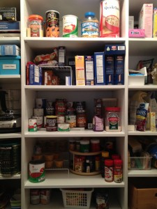 Pantry Organizing. It is a good idea to periodically clear it all out.