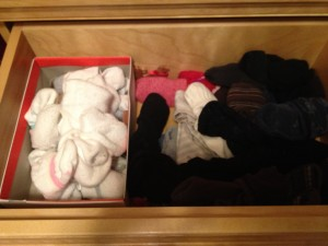 Organizing Socks and Underwear. This challenge may seem silly, but we seldom sort out our socks & undergarments. Today's quick project might free some valuable space.