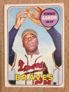 Good condition 1969 Topps Tommie Aaron ATLANTA BRAVES baseball card