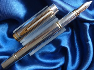 Waterman Man 100 Smooth Sterling Ssilver 925 Fountain Pen Fine Nib Serial 2066