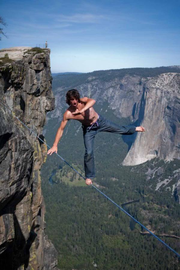 Tight Rope Walker Off Balance