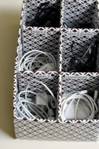 storing cords and chargers