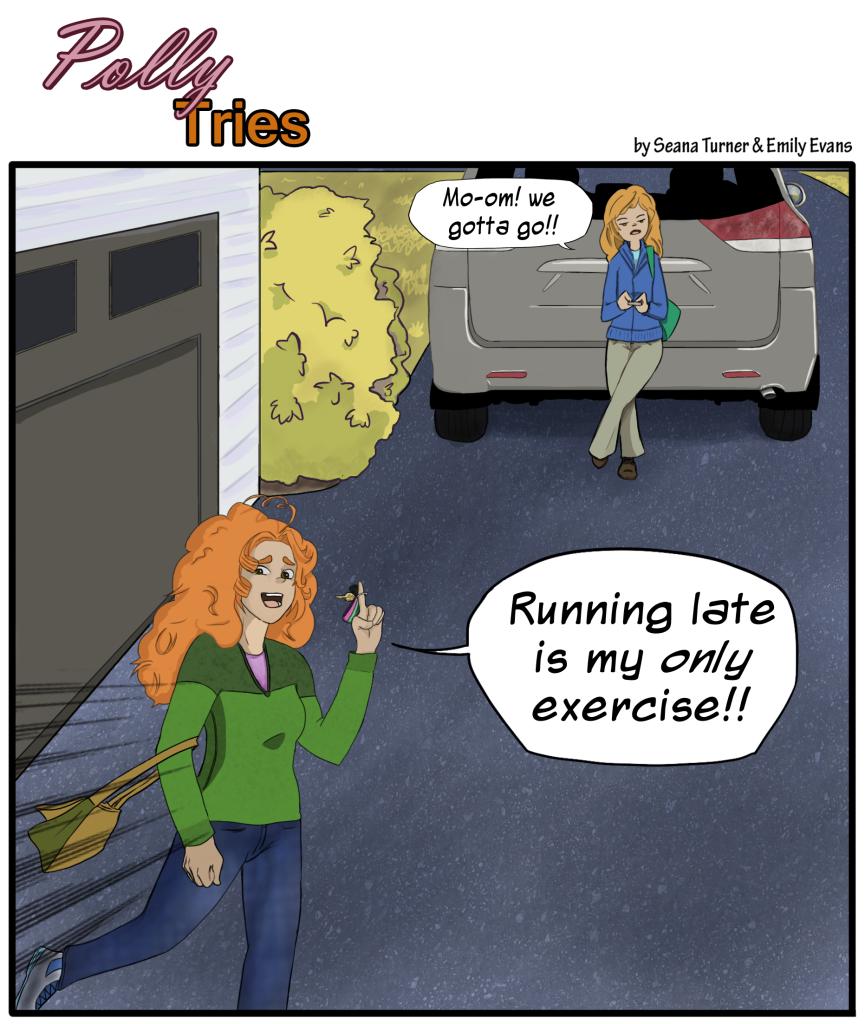 Polly runs late