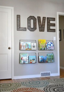 Use baskets as a shelf for books