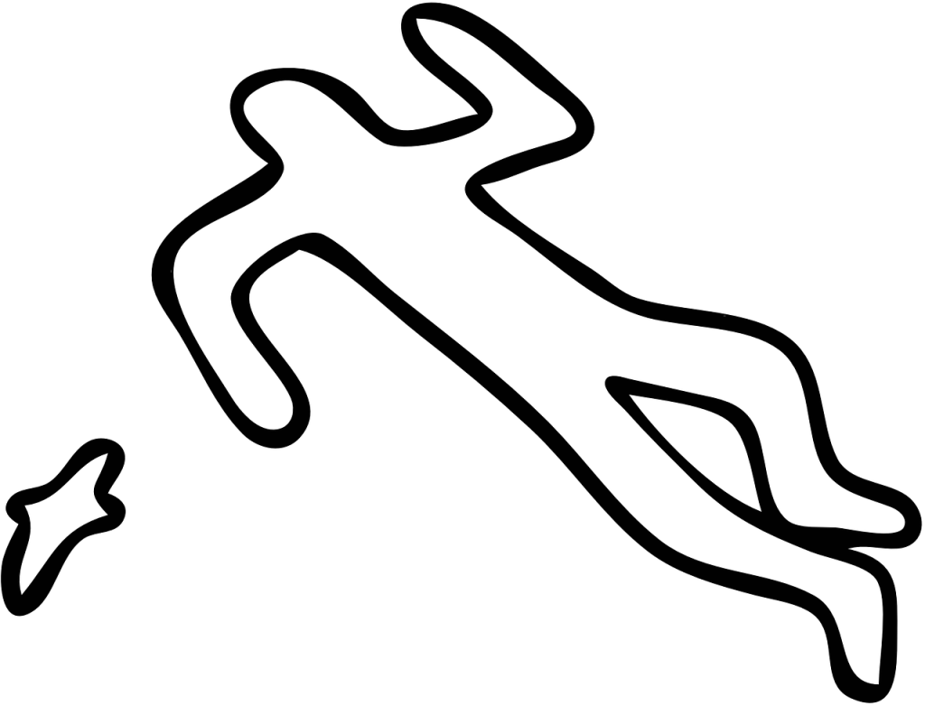 Outline of a dead body