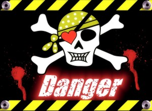 Skull and crossbones danger sign. Every home needs a resident.