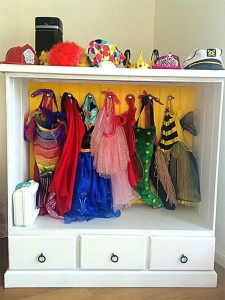 Storage solution for dress-up clothes