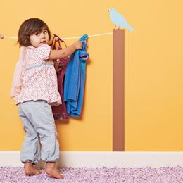 Low hooks for children to reach