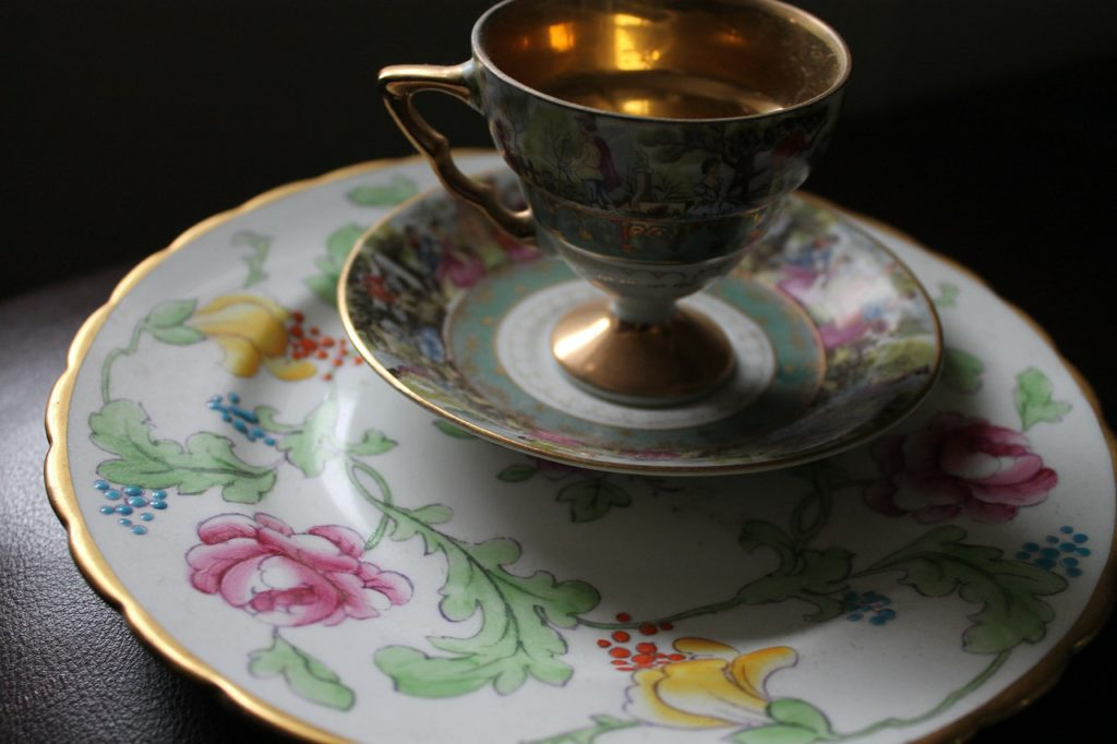 Teacup and old china
