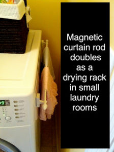 magnetic rod on the side of dryer