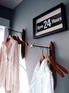 long hooks to hold clothing