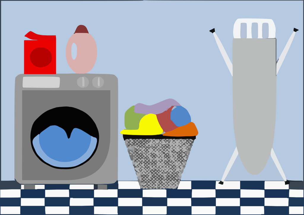 setting up a laundry room