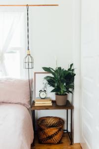 Basket under furniture