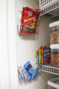 hang containers inside a closet