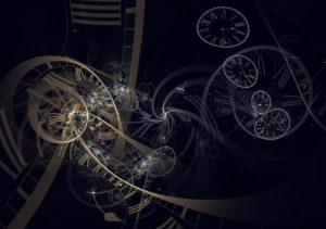 clocks spinning around