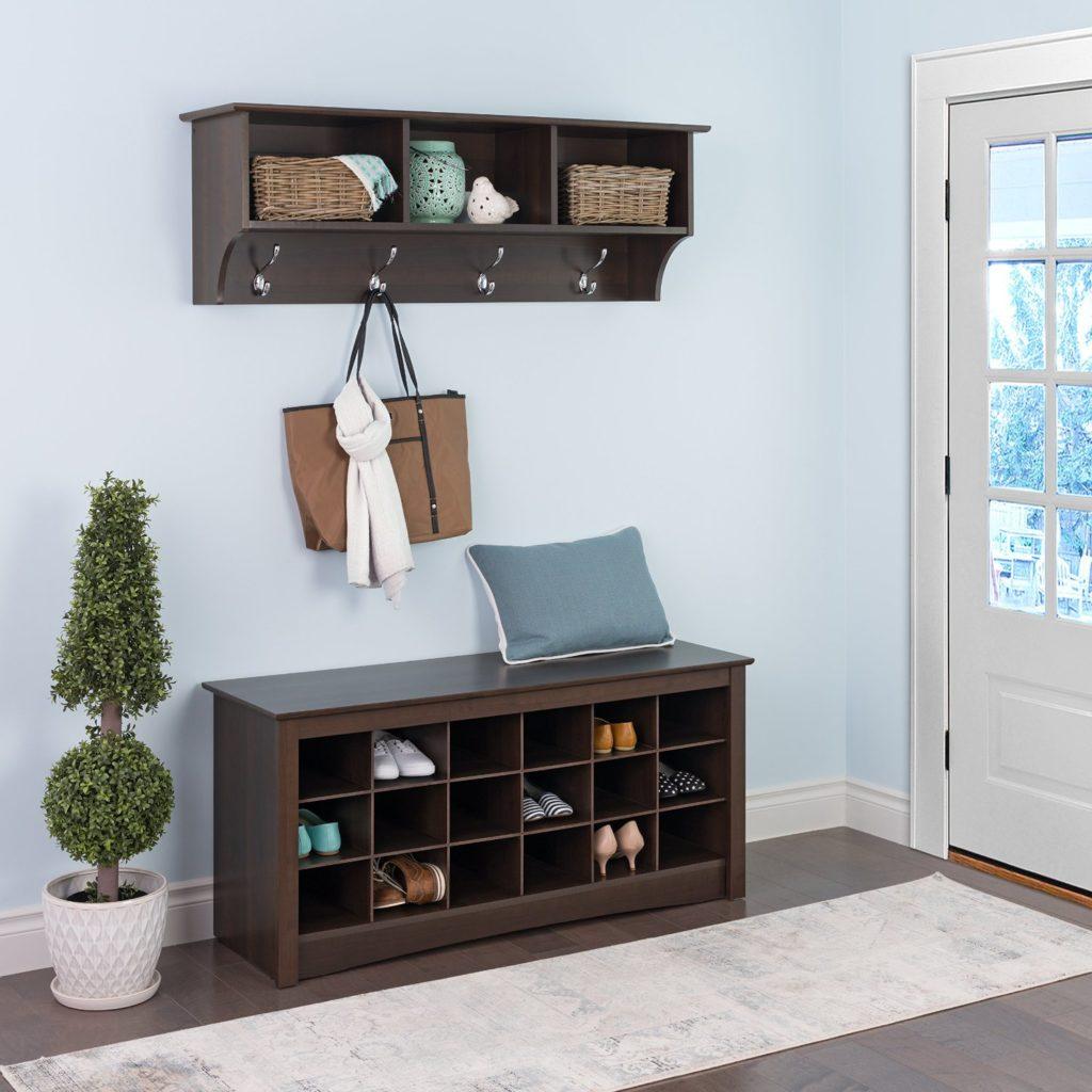 storage bench and shelf