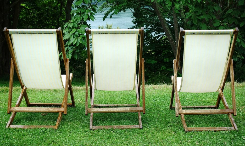 three chairs to relax in