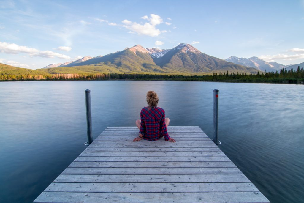 unplugging and relaxing