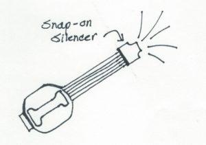 snap-on silencer
