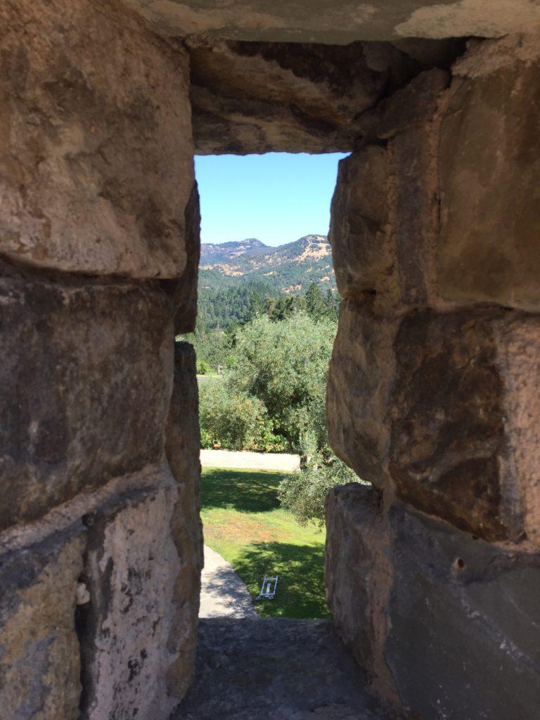 View through a narrow wall