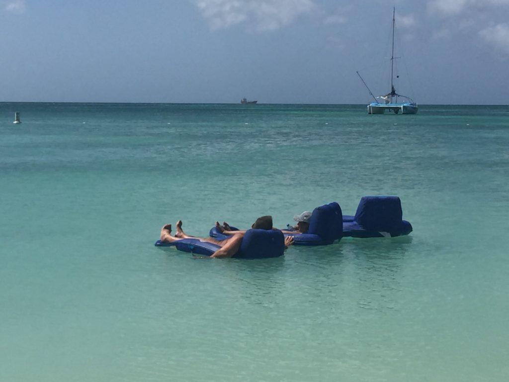 rafts hooked together