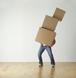 Many struggling to carry heavy weight of boxes.