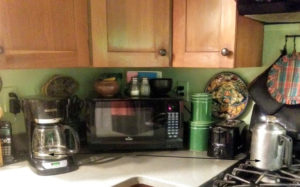 Image showing how someone found counter space for two coffee pots