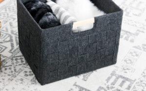 upcycled cardboard box