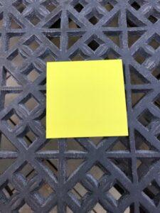 Post-it note, super sticky
