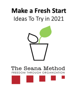"""Icon image for Seana's """"Make a Fresh Start"""" challenge. Includes a plant with a fresh green leaf."""