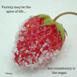 strawberry with sugar