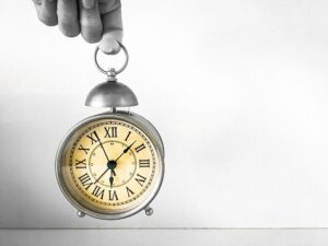 """clock. it is a good idea to try and be """"on time,"""" but what does this phrase really mean?"""