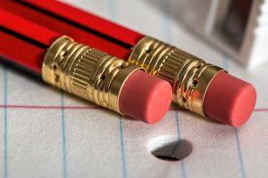 pencils with erasers. no regrets.